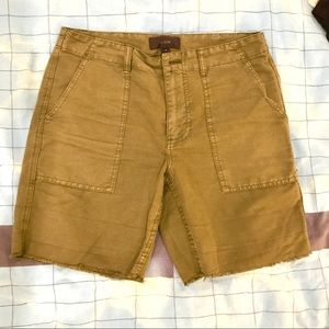 J. Crew NWOT army green shorts